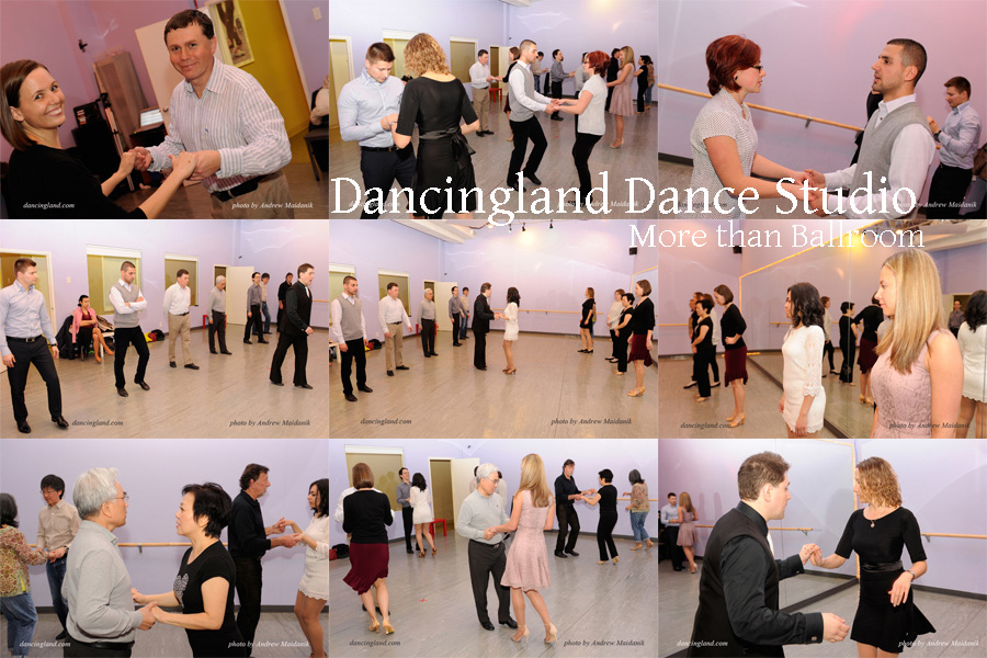 ballroom dance pesrty at the dancingland dance studio